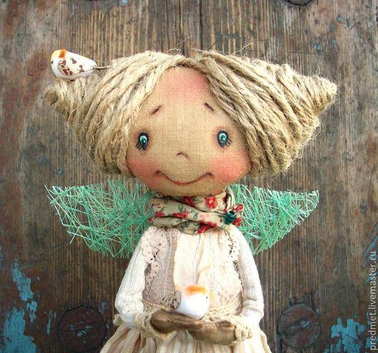 Коллекционные куклы ручной работы. Ярмарка Мастеров - ручная работа. Купить Весна-красна. Handmade. Весна, зеленый, льняной шпагат