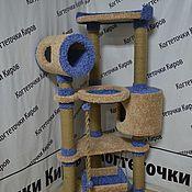 Домик для питомца ручной работы. Ярмарка Мастеров - ручная работа Когтеточка с двумя домиками. Handmade.