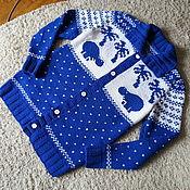 Одежда handmade. Livemaster - original item Cardigan knitting (Author`s work). Handmade.