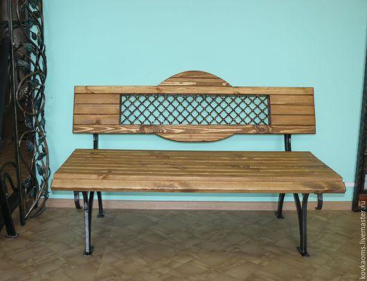 Мебель ручной работы. Ярмарка Мастеров - ручная работа. Купить Кованая садовая скамейка. Handmade. Банкетка, банкетка в прихожую