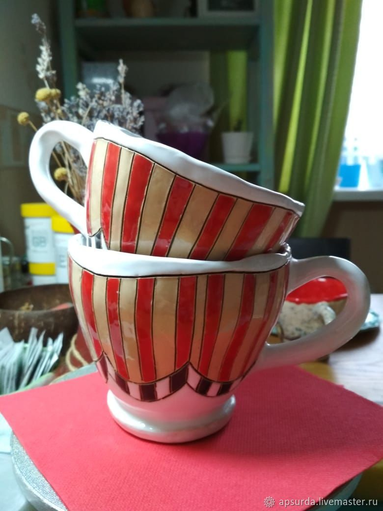 Tea Cup № 3, handmade ceramics – shop online on Livemaster with shipping -  HQS2DCOM | Rostov-on-Don