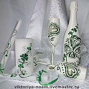 Свадебный салон ручной работы. Ярмарка Мастеров - ручная работа Свадебный набор,, четырехлистный клевер - удачное супружество,,. Handmade.