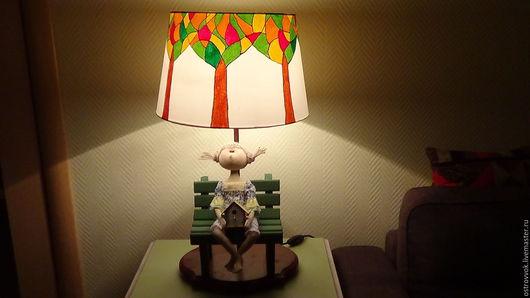 Освещение ручной работы. Ярмарка Мастеров - ручная работа. Купить Lamp for your tilde. Handmade. Комбинированный, лампа с абажуром
