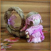 """Куклы и игрушки ручной работы. Ярмарка Мастеров - ручная работа Куколка на счастье """"Вся в розовом"""". Handmade."""