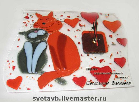 """Часы для дома ручной работы. Ярмарка Мастеров - ручная работа. Купить Часы """"Год в любви """". Handmade."""