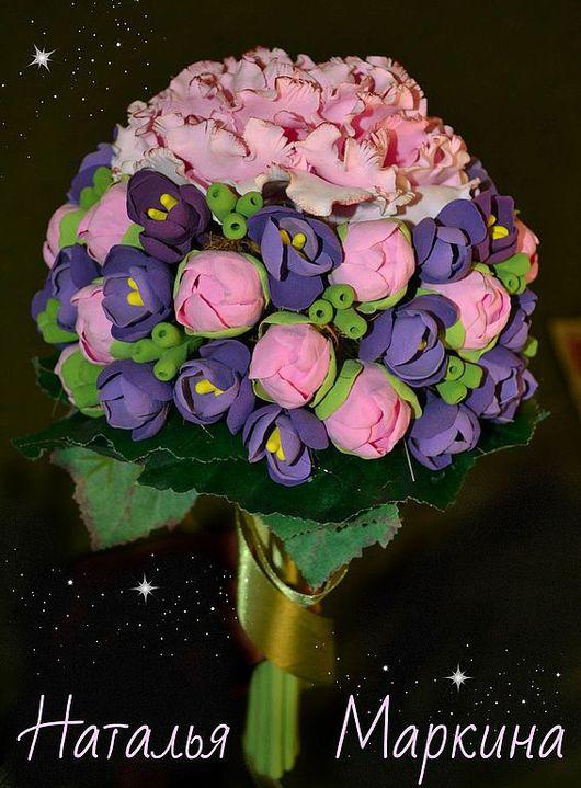 Букеты ручной работы. Ярмарка Мастеров - ручная работа. Купить Великолепный  ПИОН. Handmade. Розовый, полимерная глина, интерьерная композиция