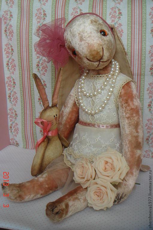 Игрушки животные, ручной работы. Ярмарка Мастеров - ручная работа. Купить Плюшевый заяц. Handmade. Кремовый, плюшевая игрушка