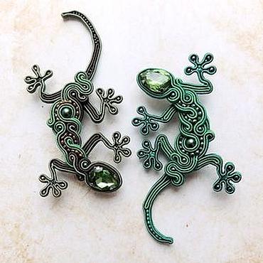 Украшения ручной работы. Ярмарка Мастеров - ручная работа Танец ящериц. Handmade.