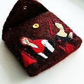 Сумки и аксессуары handmade. Livemaster - original item Evening knitted handbag with modi embroidery. Handmade.