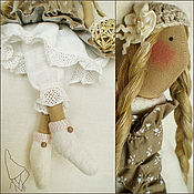 Куклы и игрушки ручной работы. Ярмарка Мастеров - ручная работа Тильда Луиса, кукла в бохо стиле. Handmade.