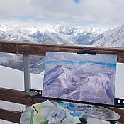 Картины и панно handmade. Livemaster - original item The Picture Of The Mountains. Northern mountains. the mountains landscape. The picture with the moun. Handmade.