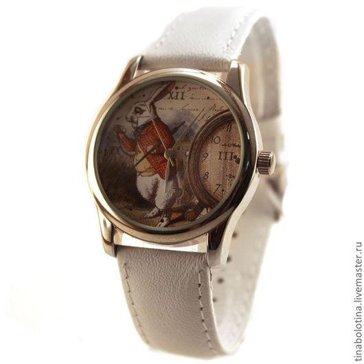 Часы ручной работы. Ярмарка Мастеров - ручная работа. Купить Дизайнерские наручные часы Белый кролик. Handmade. необычный подарок