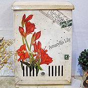 """Для дома и интерьера ручной работы. Ярмарка Мастеров - ручная работа Почтовый ящик """"Амариллис"""". Handmade."""