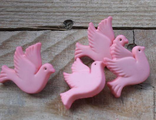 Шитье ручной работы. Ярмарка Мастеров - ручная работа. Купить пуговицы голубки. Handmade. Розовый, пуговица, пуговицы декоративные