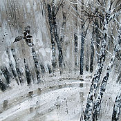 Картины и панно handmade. Livemaster - original item Picture Sheet 2 of the series and it snowed again. graphics.. Handmade.
