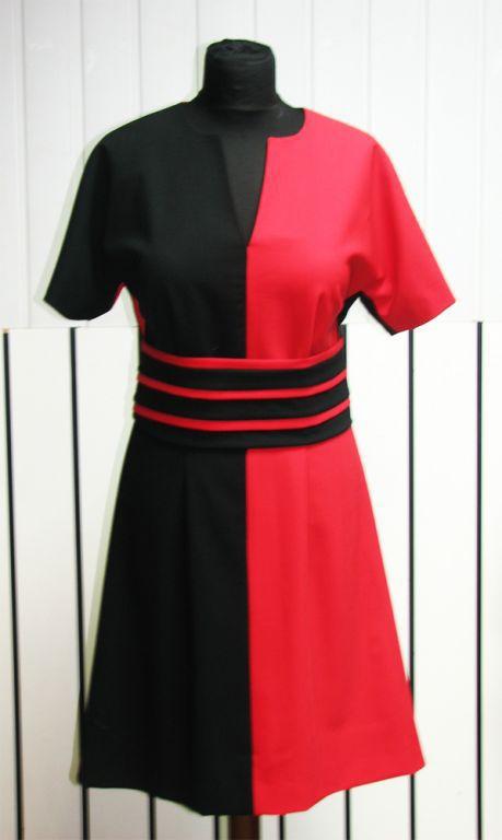 Dresses handmade. Livemaster - handmade. Buy Dress 'Day and night' - 2.Bright red, dress, wool