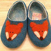 """Обувь ручной работы. Ярмарка Мастеров - ручная работа Тапки валяные женские """"Лиса"""" Валяные тапочки. Handmade."""