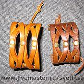 Украшения ручной работы. Ярмарка Мастеров - ручная работа браслеты кожаные. Handmade.