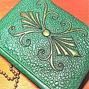 handmade. Livemaster - original item Women`s Emerald clutch bag, cross-body, prom bag (124). Handmade.