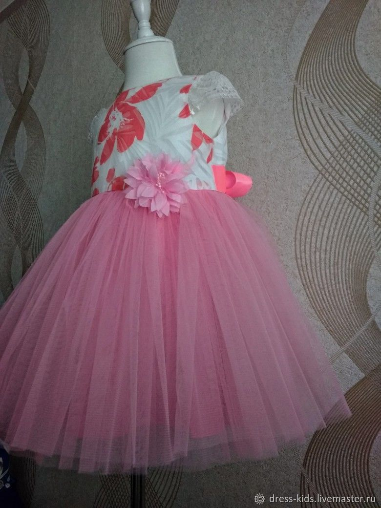 """Нарядное платье """"Розовый ангел"""""""