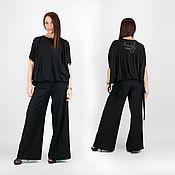 Одежда handmade. Livemaster - original item Loose Cotton Tunic, Maxi Blouse - TP0450TR. Handmade.