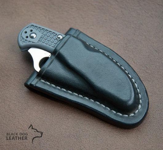 Оружие ручной работы. Ярмарка Мастеров - ручная работа. Купить Фрикционные ножны для Spyderco Delica 4. Handmade. Ножны, чехол