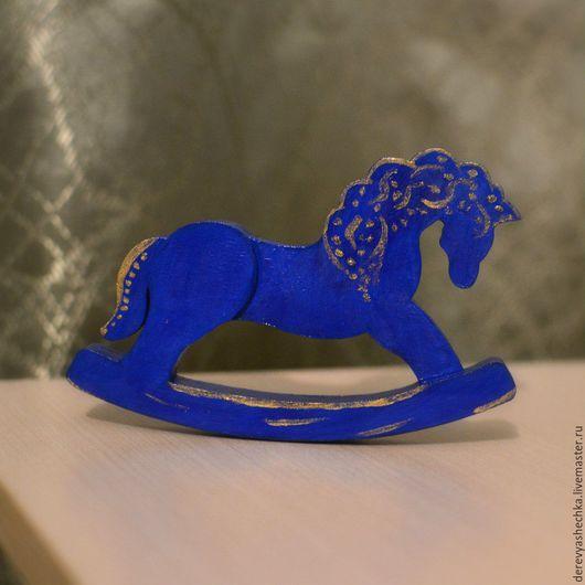 Миниатюрные модели ручной работы. Ярмарка Мастеров - ручная работа. Купить Лошадка. Handmade. Тёмно-синий, лошадка-качалка, лошадка