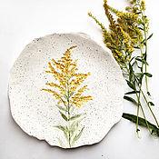 """Посуда ручной работы. Ярмарка Мастеров - ручная работа Тарелка """"Метелка"""". Handmade."""