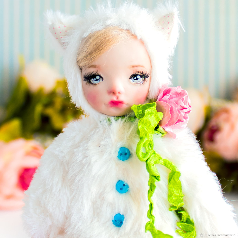 Вики тедди долл кошечка авторская кукла,символ года 2020 мышь крыса, Шарнирная кукла, Нижний Новгород,  Фото №1