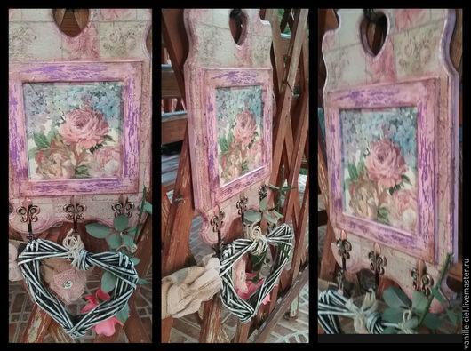 """Подарочные наборы ручной работы. Ярмарка Мастеров - ручная работа. Купить Декоративная интерьерная вешалка """"Пепел розы"""". Handmade."""