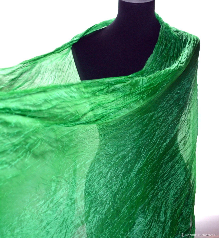 a73686bdc0635 Shawls & Warm Stoles handmade. Livemaster - handmade. Buy Silk scarf tippet  women's emerald ...