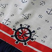 Работы для детей, ручной работы. Ярмарка Мастеров - ручная работа Платье для девочки  Морячка III. Handmade.