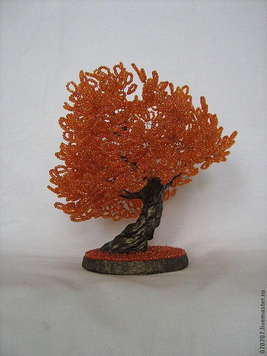 """Бонсай ручной работы. Ярмарка Мастеров - ручная работа. Купить Бонсай """"Апельсинка"""".. Handmade. Рыжий, бонсай, бисер"""