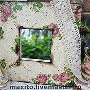 """Для дома и интерьера ручной работы. Ярмарка Мастеров - ручная работа Зеркало """"Bonjour madame"""". Handmade."""