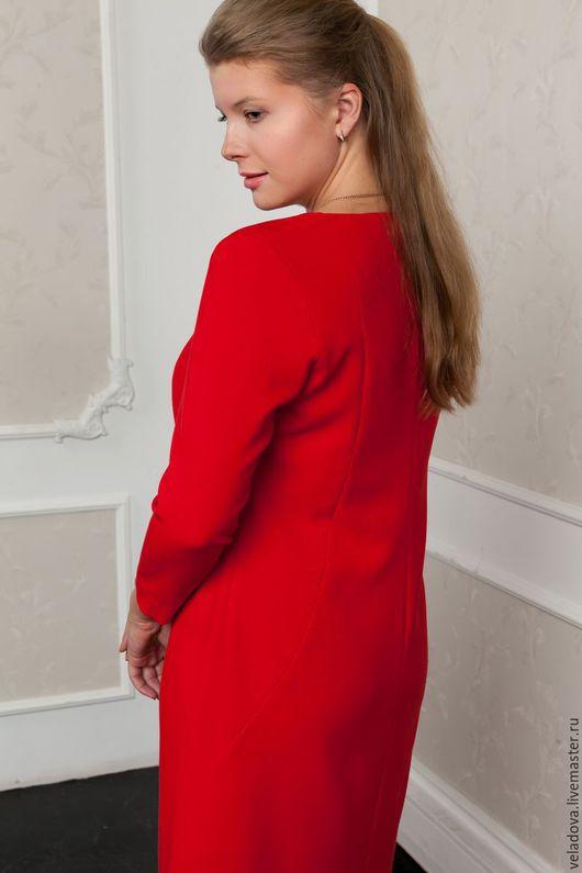 """Большие размеры ручной работы. Ярмарка Мастеров - ручная работа. Купить Платье красное """"Грация"""". Handmade. Ярко-красный"""