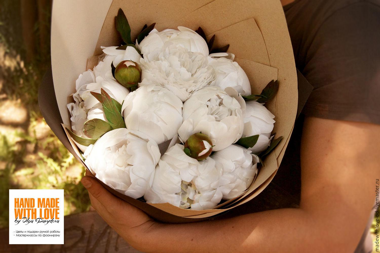 Цветы пионы из фоамирана фото