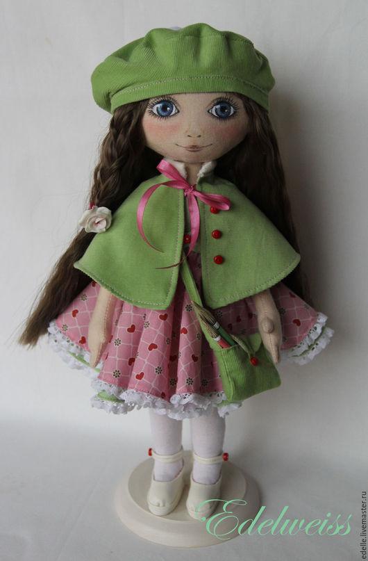 Куклы тыквоголовки ручной работы. Ярмарка Мастеров - ручная работа. Купить Юная художница Лизонька. Handmade. Кукла ручной работы