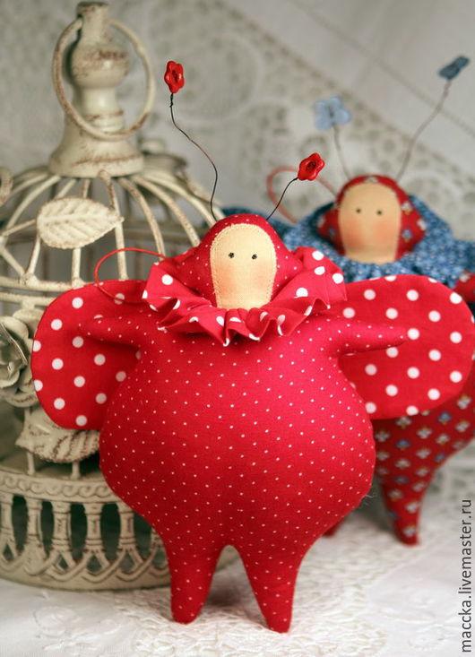 Куклы Тильды ручной работы. Ярмарка Мастеров - ручная работа. Купить Тильда жучок энергичный. Handmade. Тильда, жучок, хлопок