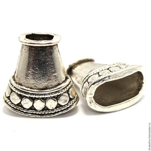 """Для украшений ручной работы. Ярмарка Мастеров - ручная работа. Купить Концевик для ожерелья - """"антик"""". Handmade. Разноцветный, бронзовый"""