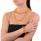 Necklace handmade. Livemaster - original item Amber beads Honey natural amber stone necklace for women. Handmade.