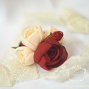 """Украшения ручной работы. Ярмарка Мастеров - ручная работа резиночка """"Белое вино из красных роз"""". Handmade."""