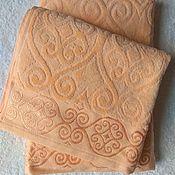 Для дома и интерьера handmade. Livemaster - original item 50x90cm peach towel. Handmade.