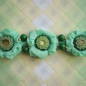 """Украшения ручной работы. Ярмарка Мастеров - ручная работа Браслет """"Зеленое небо"""". Handmade."""