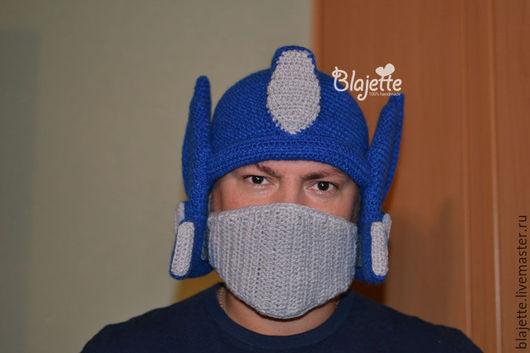 Шапки ручной работы. Ярмарка Мастеров - ручная работа. Купить Шапка шлем ОПТИМУС ПРАЙМ. Handmade. Однотонный, шапка робот