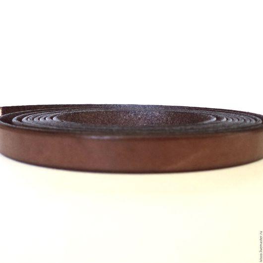 Для украшений ручной работы. Ярмарка Мастеров - ручная работа. Купить Кожаный шнур 10х2мм коричневый матовый. Handmade.