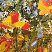 Картины и панно handmade. Livemaster - original item Oil painting flowers 30H40. Handmade.