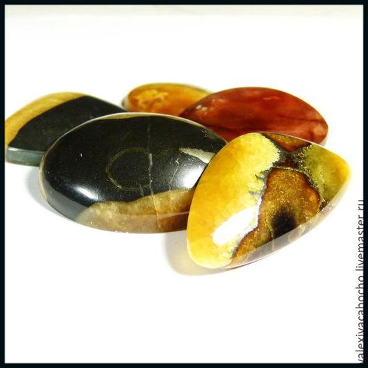 Для украшений ручной работы. Ярмарка Мастеров - ручная работа. Купить Кабошоны натуральный камень симбирцит , халцедон. Handmade. Кабошон