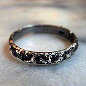 Украшения ручной работы. Ярмарка Мастеров - ручная работа кольца из метеорита. Handmade.