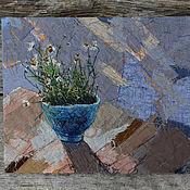 Картины и панно handmade. Livemaster - original item Textile painting of Chamomile. Handmade.