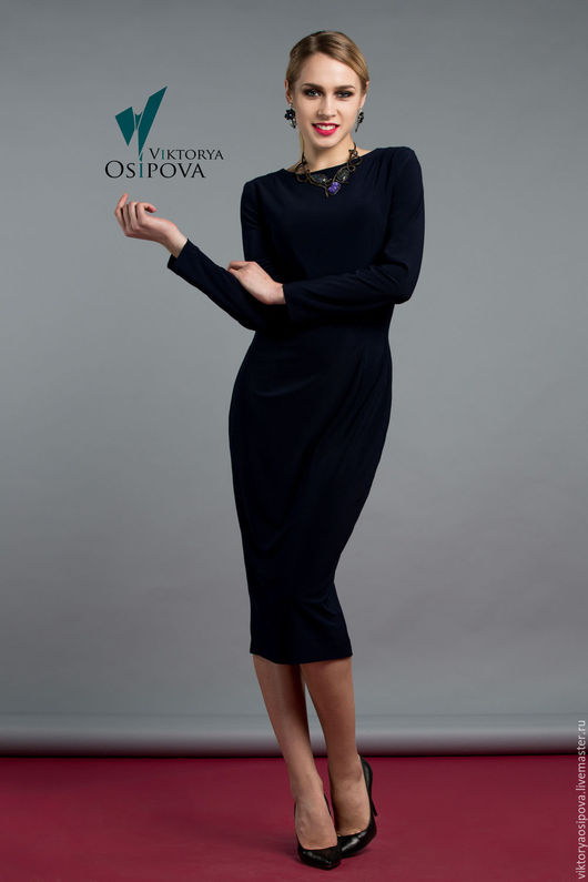 Платья ручной работы. Ярмарка Мастеров - ручная работа. Купить Универсальное платье. Handmade. Черный, платье черное, платье офисное